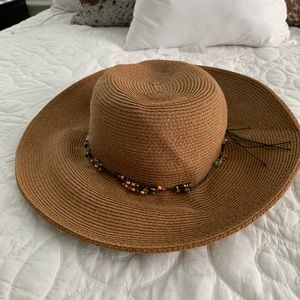 Accessories - Capelli Straworld Brown Straw Floppy Hat